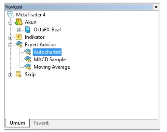 log masuk ke terminal MetaTrader